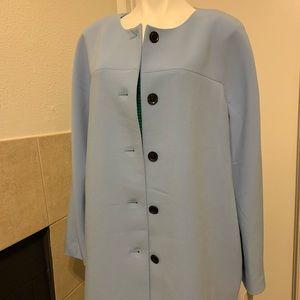 Ellen Tracy Zen Master Collarless Dress Jacket
